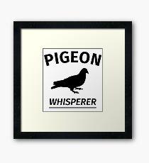 Pigeon Whisperer Framed Print