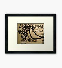 Keeper Framed Print