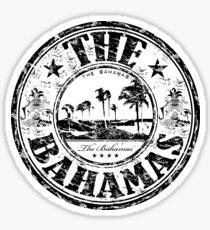 Pegatina El sello de viaje de Bahamas