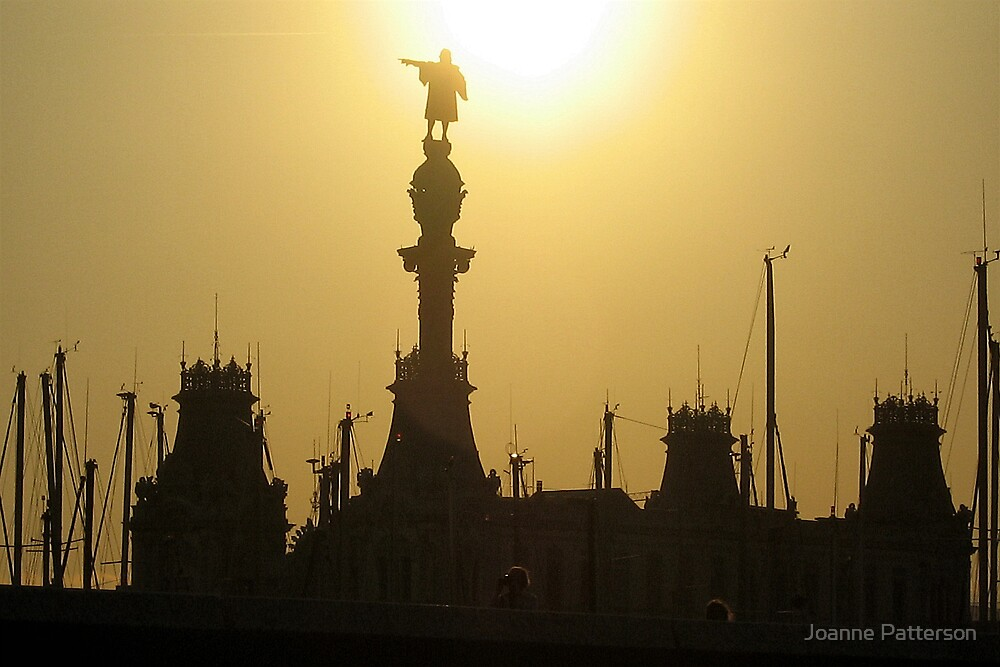 Barcelona Sun Set, Barcelona, Spain by Joanne Patterson