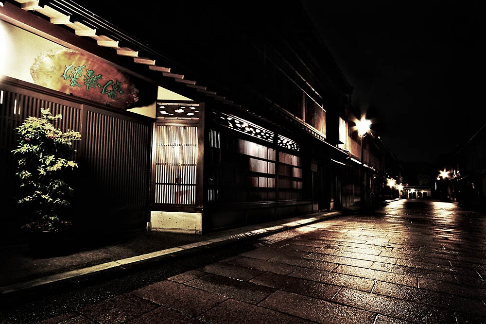 Kanazawa Nishi Chaya District - Before daybreak  by Trishy