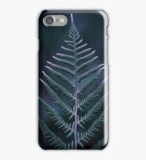 Fern, green leaves plant on dark background iPhone Case/Skin