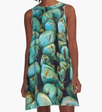TURQUOISE NUGGETS A-Line Dress