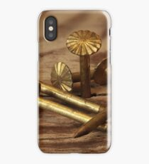 heap of of gold nails macro iPhone Case/Skin