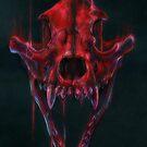 Red Fox Skull by drakhenliche