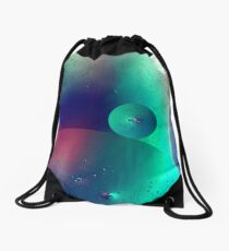 Electric Oil Droplets Number One Drawstring Bag