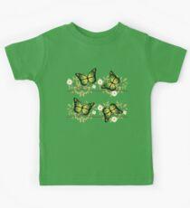 Four green butterflies Kids Tee