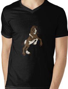 Draft horse Mens V-Neck T-Shirt