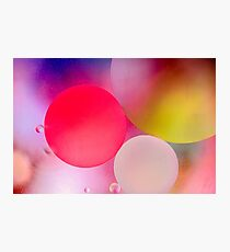 Pastel Oil Bubble Water Drops Photographic Print
