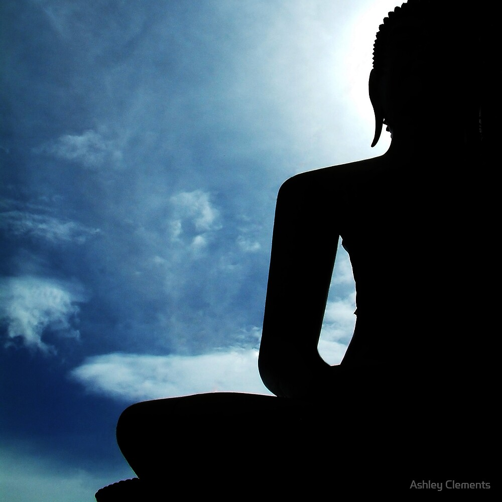 Backlit Buddha by Ashley Clements