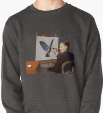 """Magritte """"Clairvoyance"""" inspired design Pullover"""
