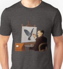 "Magritte ""Clairvoyance"" inspired design Unisex T-Shirt"