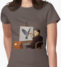 """Magritte """"Clairvoyance"""" inspired design Women's Fitted T-Shirt"""