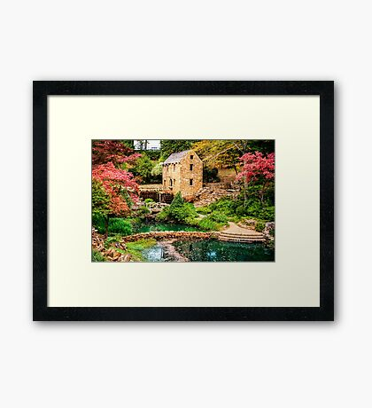 Afternoon At The Old Mill - Arkansas Framed Print
