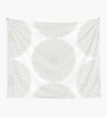Gray Circle OF Life Mandala Wall Tapestry