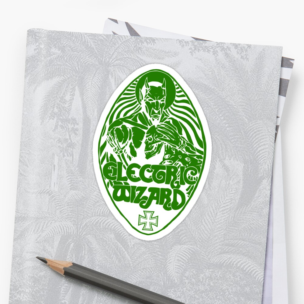 Quot Electric Wizard Lucifer Green Quot Stickers By Lnfernum