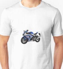 Suzuki GSXR 1000 motorbike blue/white Unisex T-Shirt