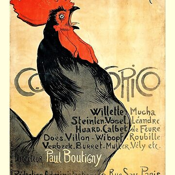 Cocorico Vintage French Poster by BillyBernie