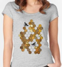 Golden Honeycomb Women's Fitted Scoop T-Shirt