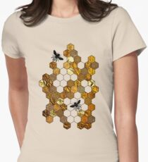Golden Honeycomb Women's Fitted T-Shirt