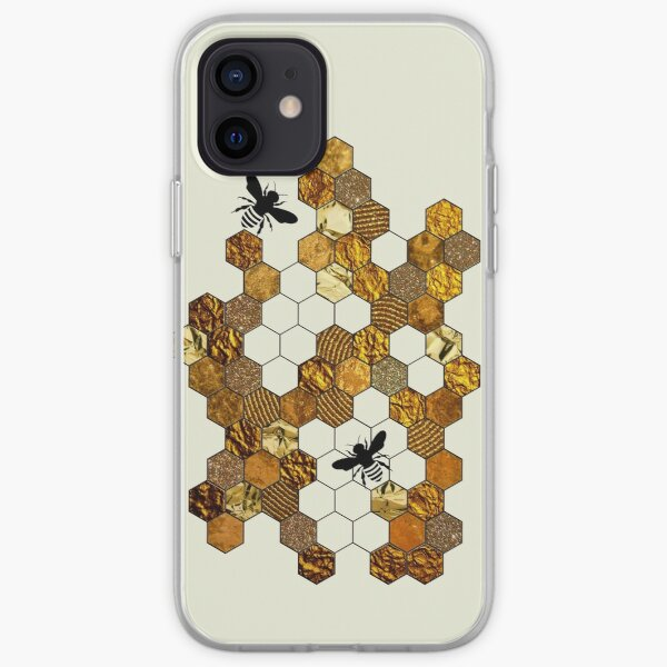 Golden Honeycomb iPhone Soft Case