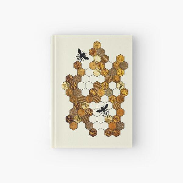Golden Honeycomb Hardcover Journal