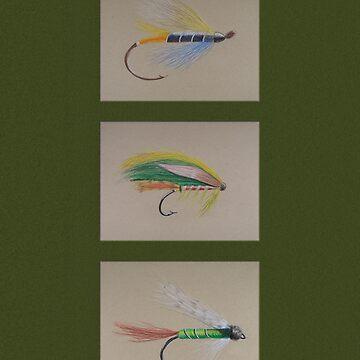 Dry Flies - Hunter Green by Casegrfx