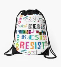 Resist Again Drawstring Bag