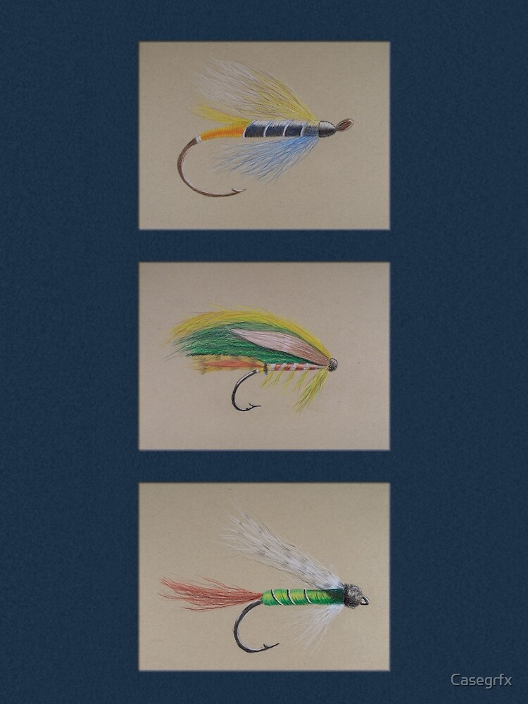 Dry Flies - Navy by Casegrfx