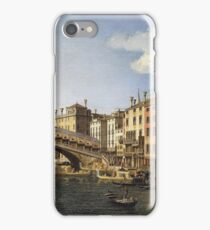 Canaletto - The Rialto Bridge, Venice, From The South With The Embarkation Of The Prince Of Saxony During His Visit In 1740 iPhone Case/Skin