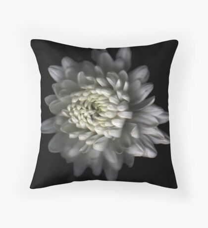 White Carnation Throw Pillow