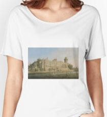 Canaletto - The South Facade Of Warwick Castle Women's Relaxed Fit T-Shirt