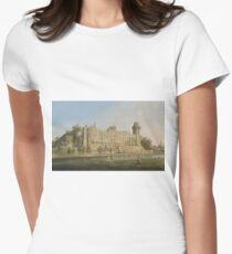 Canaletto - The South Facade Of Warwick Castle Womens Fitted T-Shirt