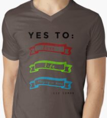 Love, Life, and Staying In More Mens V-Neck T-Shirt