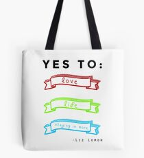 Love, Life, and Staying In More Tote Bag