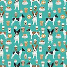 Rat Terrier coffee dog breed pet portrait dog pattern dog breeds gifts for dog lovers by PetFriendly by PetFriendly