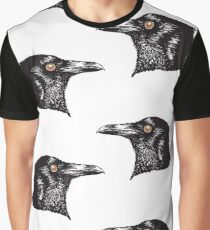 Inky Crow original pattern Graphic T-Shirt