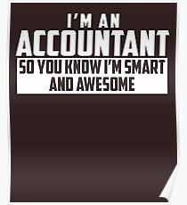 Smart and Awesome Accountant Poster