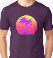 Retro Palm Trees with Sun T-Shirt