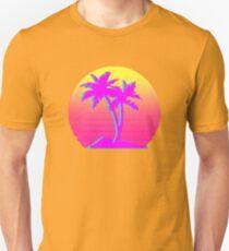 Retro Palm Trees with Sun Unisex T-Shirt