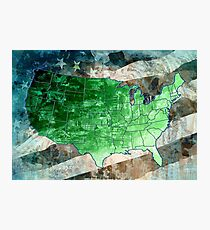 united states map usa map Photographic Print