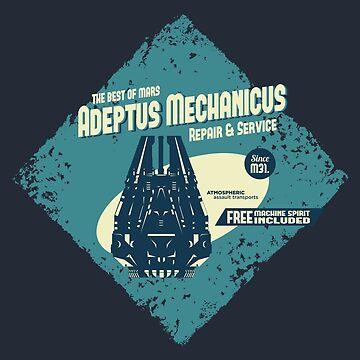 Adeptus Mechanicus - Drop pod by moombax