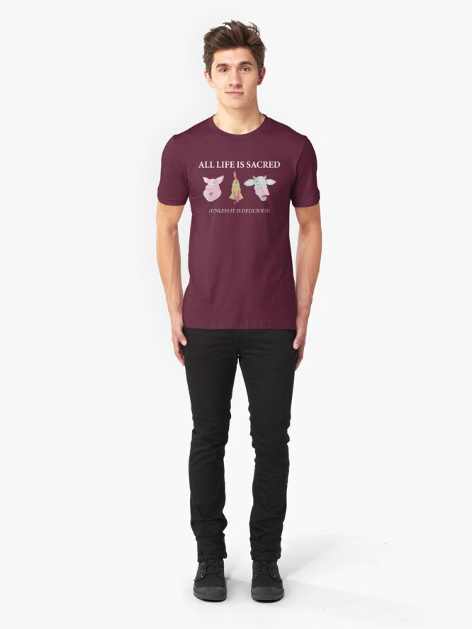 Alternate view of All Life Is Sacred Slim Fit T-Shirt