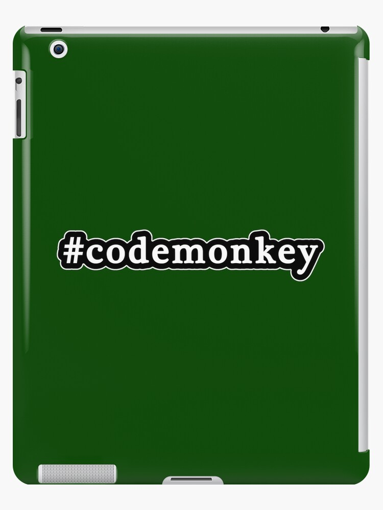 Code Monkey - Hashtag - Black & White by graphix