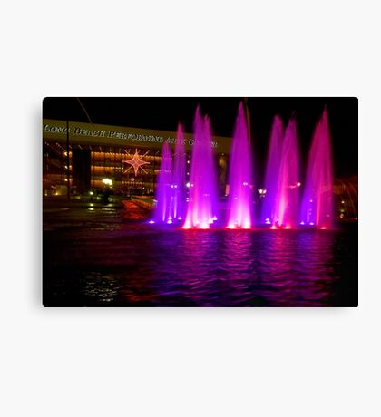 Holiday fountains in pink Canvas Print