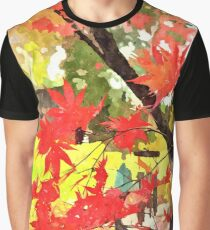 Red Leaves in Fall Graphic T-Shirt