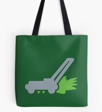 Lawnmower on the grass Tote Bag