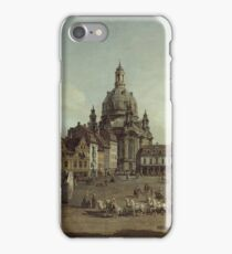 Canaletto - View Of The Neumarkt In Dresden From The Judenhofe 1749 iPhone Case/Skin