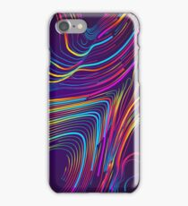 Moving colorful lines of abstract background iPhone Case/Skin