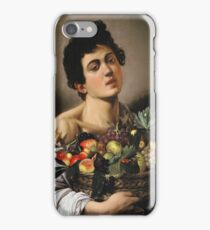 Caravaggio - Boy With Basket Of Fruit iPhone Case/Skin